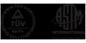 Les certifications GriP - Logo Tüv et ASTM International